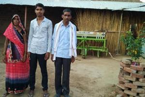 Krishna Kumar with his parents.