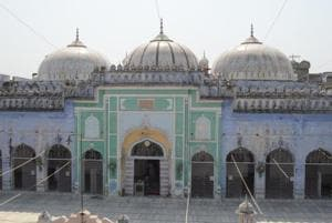 The mosque's construction was completed during the rule of Naseeruddin Mehmood.