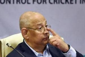BCCI acting secretary Amitabh Choudhary during the press conference.
