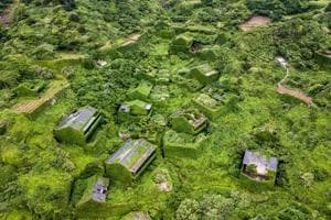 Photos: An abandoned Chinese village now engulfed by nature
