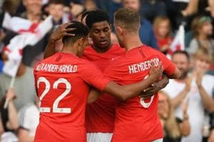 Marcus Rashford and Danny Welbeck were on target as England warmed up to the FIFAWorld Cup 2018 in style.