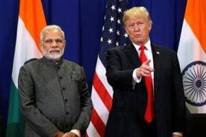 Prime Minister Narendra Modi and US President Donald Trump during the Asean summit in Manila in November 2017. The two-plus-two meeting was announced after Modi's meeting with Trump at the White House in August 2017.
