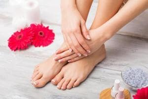 It's easy to get a pedicure done at home.