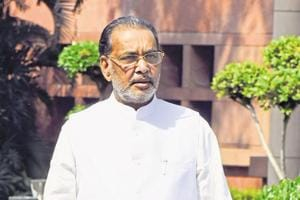 Union minister of agriculture Radha Mohan Singh leave after Cabinet Minister's Meeting in New Delhi.