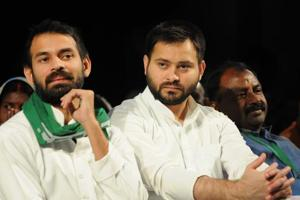 Tej Pratap (left) says his brother Tejashwi's rise has his blessings.