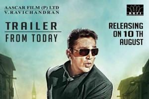 Vishwaroopam 2 trailer will be out Monday evening. The film releases on August 10.