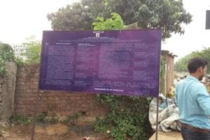 Enforcement Directorate has put up a notice board bearing the signature of assistant director of the Delhi zonal office-I, Nitin Yadav, at the plots, measuring about three acres, in Danapur police station area on the outskirts of Patna.