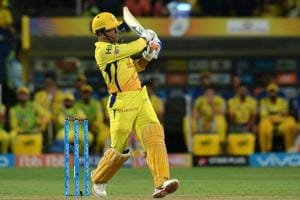 In this file photo, Chennai Super Kings captain M.S Dhoni plays a shot during the 2018 Indian Premier League (IPL) match between Chennai Super Kings and Sunrisers Hyderabad at the Maharashtra Cricket Association Stadium in Pune on May 13, 2018.