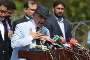 Mian Muhammad Shehbaz Sharif  in Islamabad on June 17, 2017.