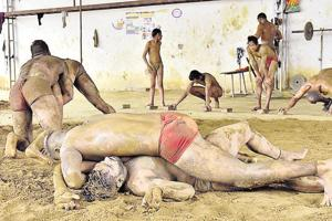 Wrestlers at the Akhada Alamgir near Ludhiana say they have not had any government support.