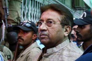 Former president and military ruler of Pakistan Pervez Musharraf at an anti-terrorism court in Islamabad.