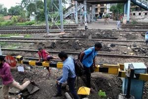 The Thakurli station crossing was closed on Tuesday.