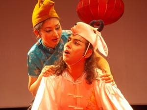 A scene from the play Three Oriental Tales, which was staged as part of Gurgaon Summer Theatre Festival 2018.