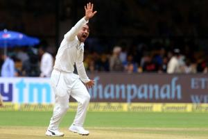 Rashid Khan got his first Test wicket when he dismissed Ajinkya Rahane during the one-off Test against Afghanistan. Get highlights of India vs Afghanistan , one-off Test, Bangalore here.