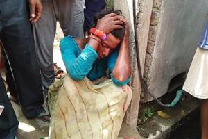 The man who was beaten up by an angry mob in Malda's English Bazar area.