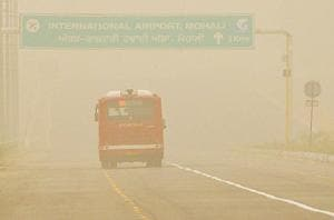 The air quality index (AQI) on Thursday went beyond the severe limit of 500 to 575.