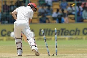 Afghanistan were defeated by an innings and 262 runs by India in their inaugural Test match in Bangalore on Friday.