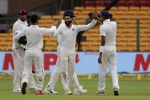 Ravindra Jadeja took four wickets as India crushed Afghanistan by an innings and 262 runs to win the one-off Test in just two days.  Get live cricket score of India vs Afghanistan, one-off Test, Bangalore here.