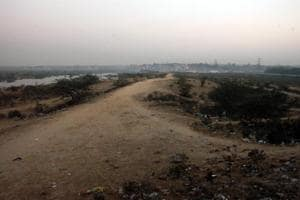 Proposed land for Kalindi Kunj bypass near Ashram Chowk in New Delhi.