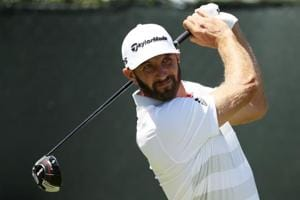 Dustin Johnson was one of just four players to shoot an under-par opening round at the US Open golf.