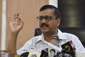 Delhi chief minister Arvind Kejriwal speaks during a press conference at his official residence in New Delhi on Monday. Later that evening, Kejriwal began his sit-in protest at the Lieutenant Governor's office, demanding his intervention in an alleged strike by the IAS association in Delhi.