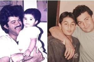 Sonam Kapoor with Anil Kapoor and Ranbir Kapoor with Rishi Kapoor in special Father's Day pictures.