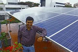 Mehul Mehta was convinced by his son Maanav to install solar panels on his four bungalows in Madh Island.