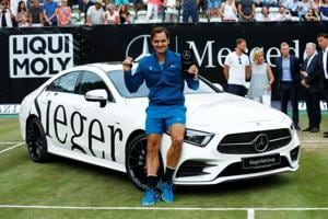 Roger Federer beat Milos Raonic 6-4, 7-6 (3) to mark his return from three months off with the Stuttgart Open title.