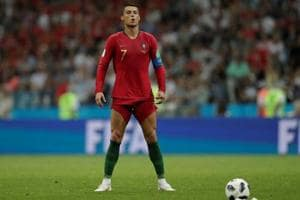 Cristiano Ronaldo became only the fourth player in the World Cups to score a hattrick.