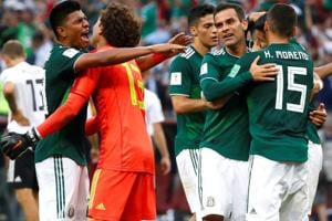 Mexico defeated Germany in their opening game of the FIFA World Cup 2018 in Moscow on Sunday. Follow highlights of Germany vs Mexico, FIFA World Cup 2018 here.