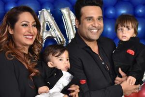 Actors Kashmera Shah and Krushna Abhishek became parents to twin boys — Rayaan and Krishaang K Sharma.