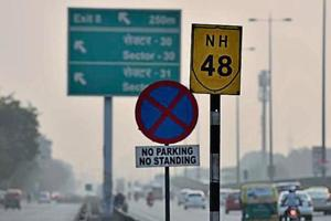 The situation in Gurugram is often compared with that of New Delhi where proper signage serves to discipline motorists.