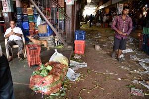 APMC Vegetable Market during a farmers strike across Maharashtra in June, 2018