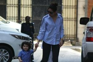 Kareena Kapoor Khan along with her son Taimur seen at Mumbai