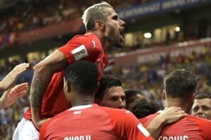 Steven Zuber scored the equaliser for Switzerland