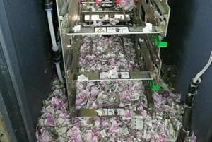 Damaged banknotes of Rs 2000 and Rs 500 denomination were found in an ATM in Assam's Tinsukia district.