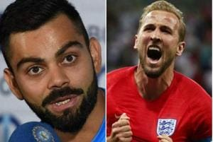 Virat Kohli wished Harry Kane ahead of England's FIFAWorld Cup 2018 match against Tunisia on Monday.