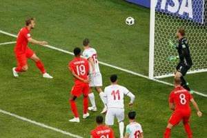 Get highlights of Tunisia vs England, FIFAWorld Cup 2018 Group G match, here. Harry Kane scored twice as the England national football team beat Tunisia 2-1.
