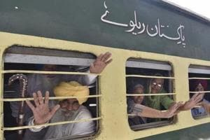 File photo of a Sikh Jatha leaving for Pakistan.