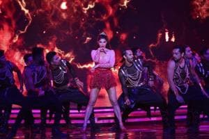 Jacqueline Fernandez performs at Tuesday's Miss India 2018 Final.