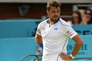 Stan Wawrinka of Switzerland lost his second round match against Sam Querrey of the US at the Queen's ClubChampionships on Wednesday.