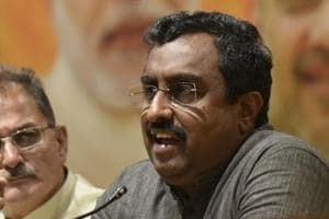 BJP vice president Ram Madhav announces the BJP's exit from an alliance with Mehbooba Mufti