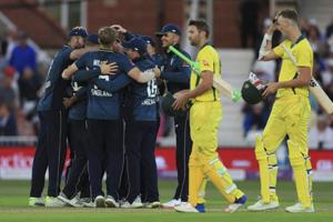 Australia lost to England by 242 runs in the third ODI at Trent Bridge on Tuesday.