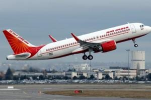 An Air India flight takes off in Colomiers near Toulouse, France.