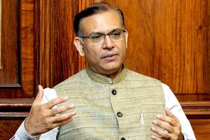 minister of state for civil aviation, Jayant Sinha.