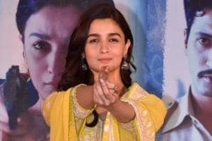 Alia Bhatt at the success party of her film Raazi in Mumbai.