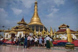 Photos: Landslides, flash floods damage 1,000 year old pagoda in Myanmar