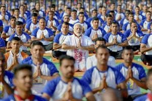 Photos: India strikes a pose on International Yoga Day 2018