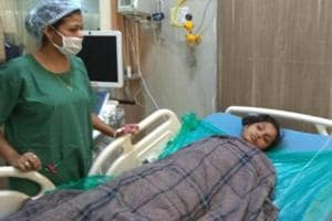 A patient admitted for suspected food poisoning at DY Patil Hospital Navi Mumbai.