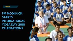 Watch: PM Modi kick-starts International Yoga Day 2018 celebrations in ...
